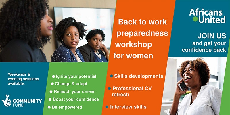 Get your confidence back with our back to work workshops